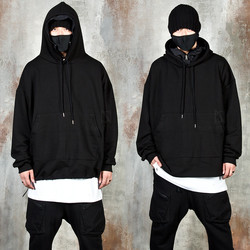 Layered string black hoodie