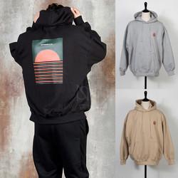 Loose fit sunset hoodie