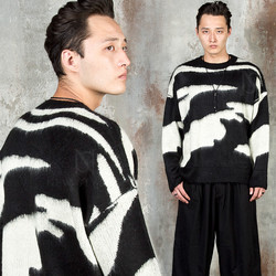 Mohair zebra knit sweater