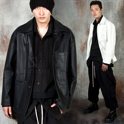Leather work jacket