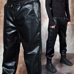 Crocodile patterned leather pants