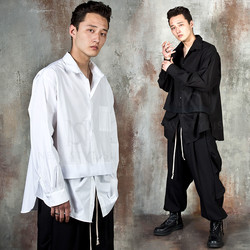 Avant-garde layered unbalanced shirts
