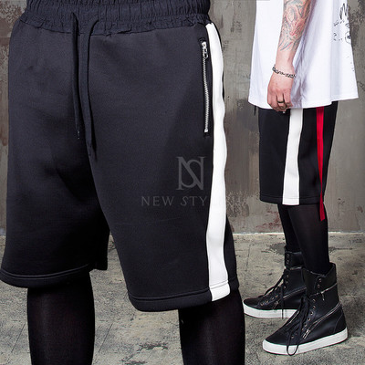 neoprene black sweat shorts