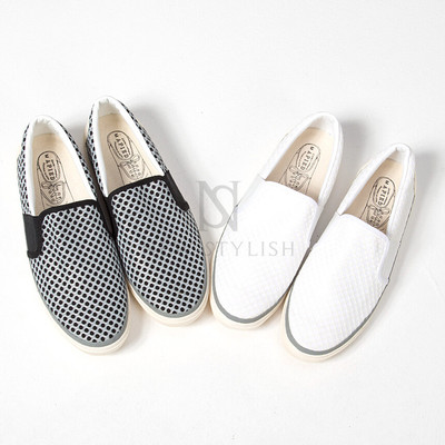 mesh covered casual slip-on
