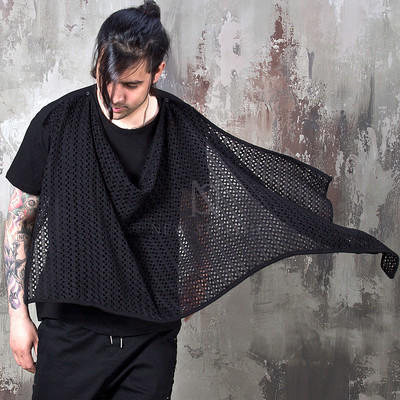 turtle mesh black shirts