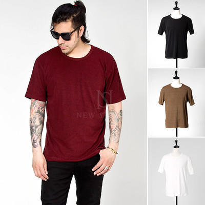 basic round cotton t-shirts