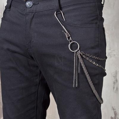 Metal hook 3 line wallet chain