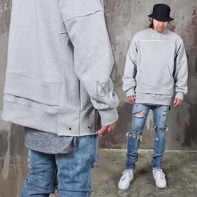 Overstitch double layered shirts
