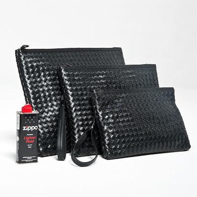 Braided simple clutch bag
