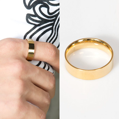 Plain simple gold ring
