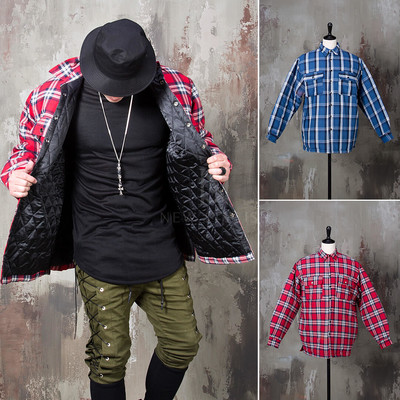 Classic checkered padded shirts