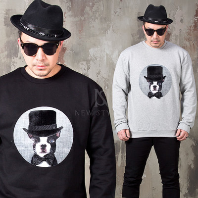 Real bow tie fedora dog sweatshirts