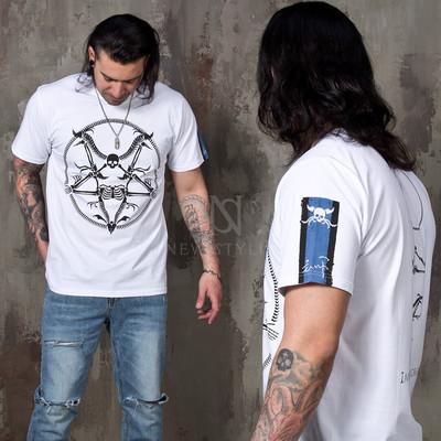 Skull emblem printed t-shirts