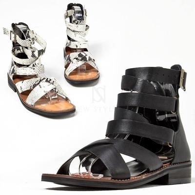 Buckled modern gladiator sandals