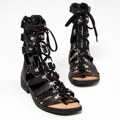 Lace-up modern gladiator sandals