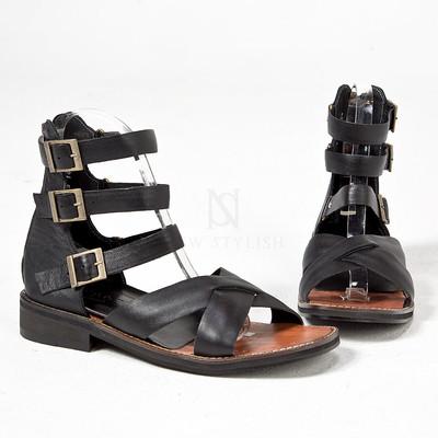 Triple belted modern gladiator sandals