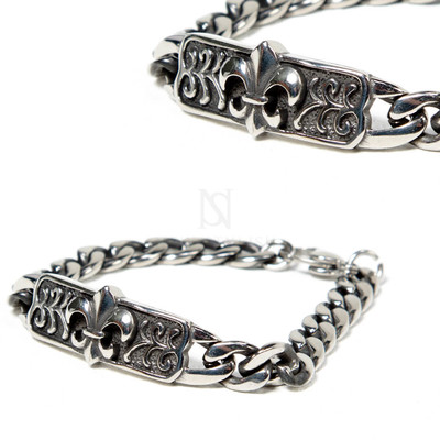 Scout emblem engraved surgical steel bracelet