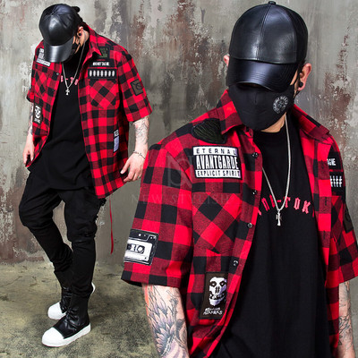 Multiple wappen checkered shirts
