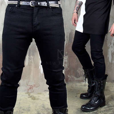 Plain black slim jeans