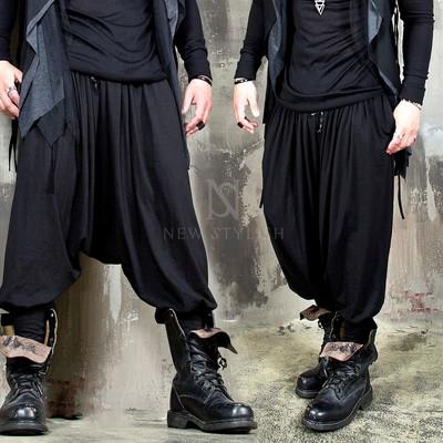 Avant-garde drape harem baggy banding pants 252