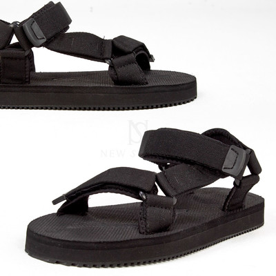 Plain black sporty sandal - 452