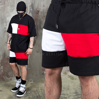 Two tone contrast banding shorts - 111