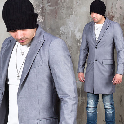 Two button single slim coat