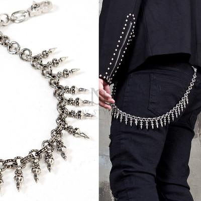 Ancient metal ornament pants chain