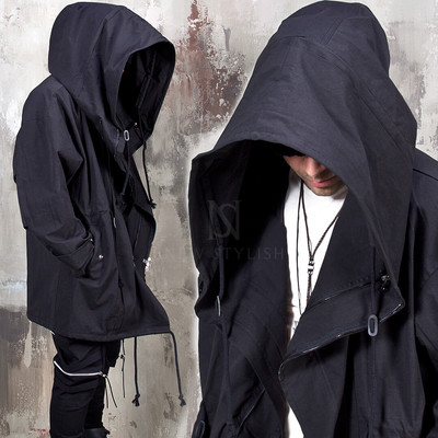 Avant-garde wired big hood jacket - 340