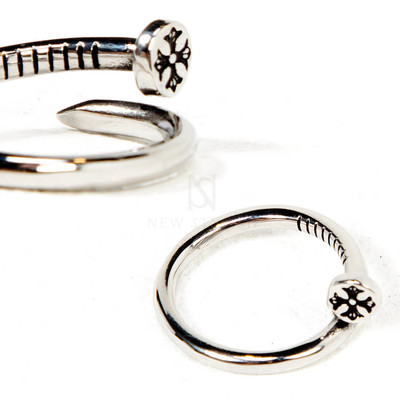 Surgical steel bended nail ring