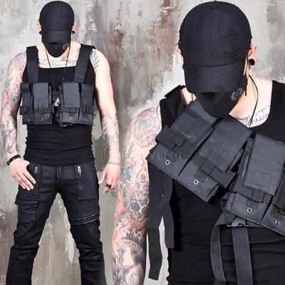 Techwear fashion utility bag