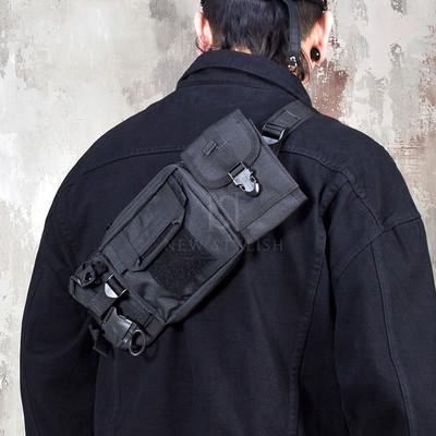Techwear fashion sling bag