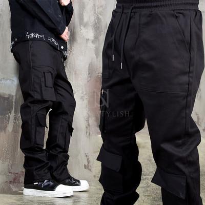 Multiple pocket accent banding pants