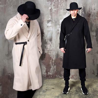 Durumagi vibe one side belted long coat