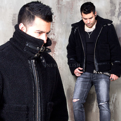 Double faced short fleece jacket