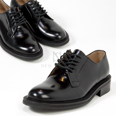 Lace-up straight tip shoes