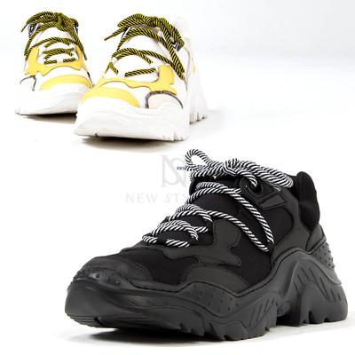 Contrast futuristic outsole sneakers