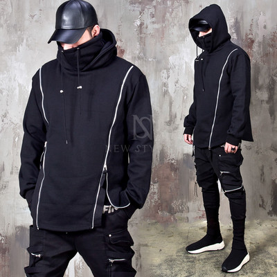 Double zippered showstopper turtleneck hoodie