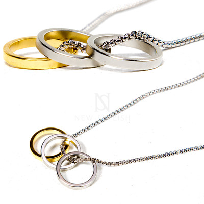 Multiple ring necklace
