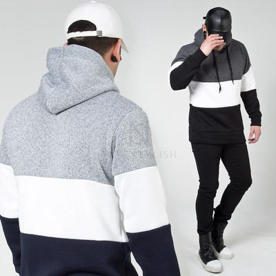 Big contrast stripe hoodie