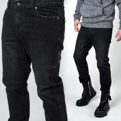 Plain washed black jeans