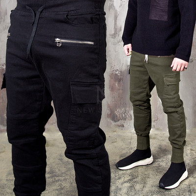 Zipper cargo jogger pants