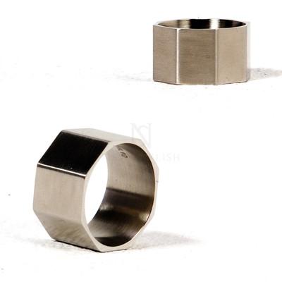 Octagon metal ring