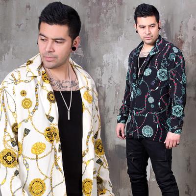 Unique chain patterned button up shirts
