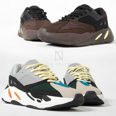 Multiple contrast sneakers