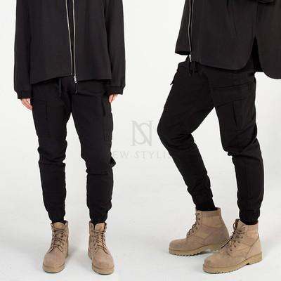 Basic banded cargo pants