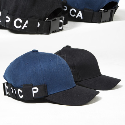 Lettering buckle strap ball cap