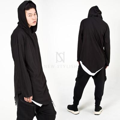 Avant-garde triangle hem hoodie
