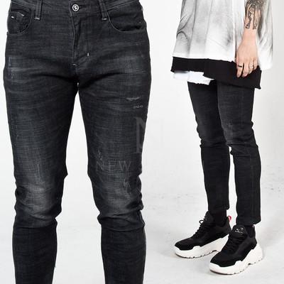 Washed black slim jeans