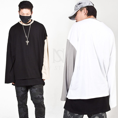 Contrast long sleeve t-shirts